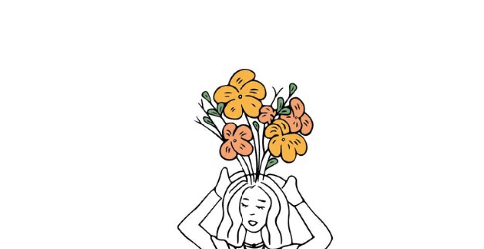 Spuntano fiori dalla testa